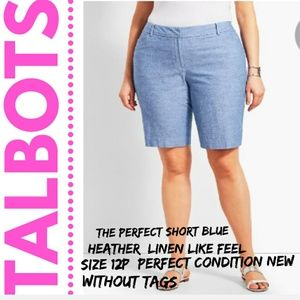 Talbots Perfect Short Size 12P Linen Feel Nwot